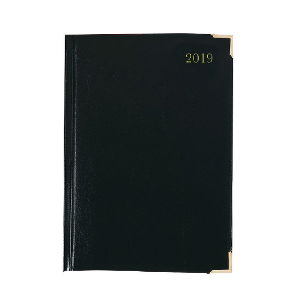Executive A5 Day/Page 2019 Black Diary KFEA51BK19