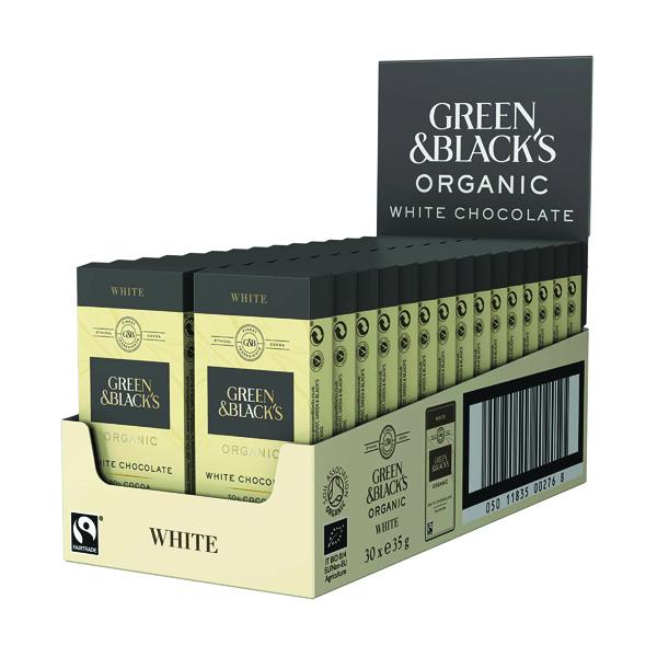 Green & Black's 35g White Chocolate (30 Pack) 611637