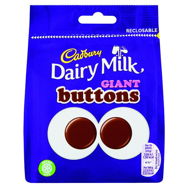 Cadbury Giant Buttons Share Bags 95g 4240133