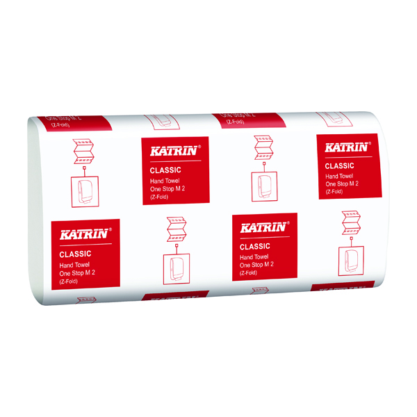 Katrin Classic One Stop Hand Towels 2-Ply White (3360 Pack) 345287