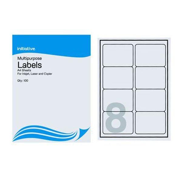 Initiative Multipurpose Labels 99.1x67.7mm 8 Labels Per Sheet (100 Pack)