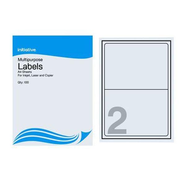 Initiative Multipurpose Labels 199.6 x 143.5mm  2 Labels Per Sheet (500 Pack)