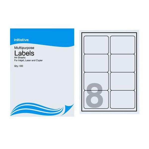 Initiative Multipurpose Labels 99.1x67.7mm 8 Labels Per Sheet (500 Pack)