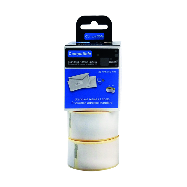 Compatible DYMO Standard Address Label 28 x 89mm (260 Pack) LL87010