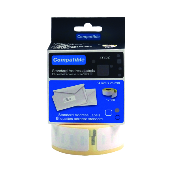 Compatible DYMO Return Address Label 54 x 25mm (500 Pack) LL87352