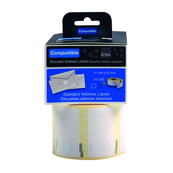 Compatible DYMO Multipurpose Label 57 x 32mm (1000 Pack) LL87454