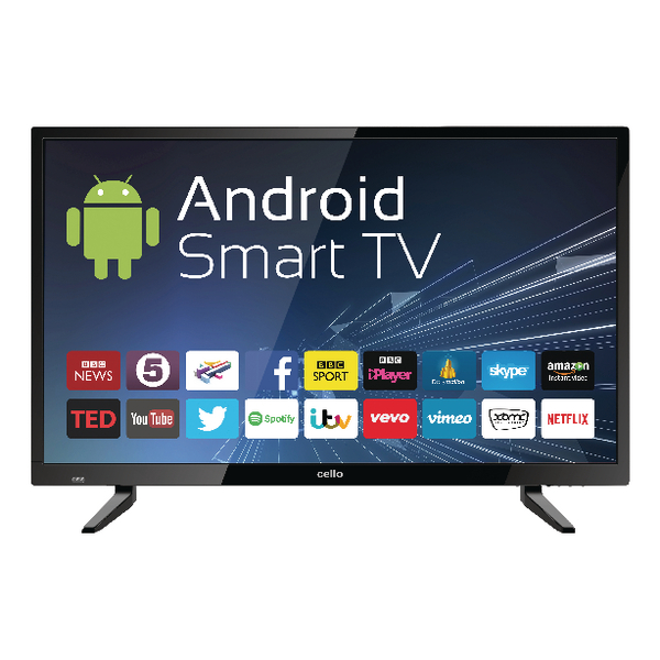 32inch Android Smart Free view T2 HD LED TV With Wi-Fi C32ANSMT
