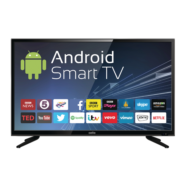 40inch Android Smart Free view T2 HD LED TV With Wi-Fi C40ANSMT