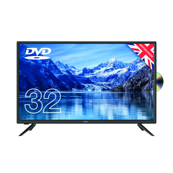 Cello 32 Inch Freeview HD LED TV with DVD Player 1080i C3220F