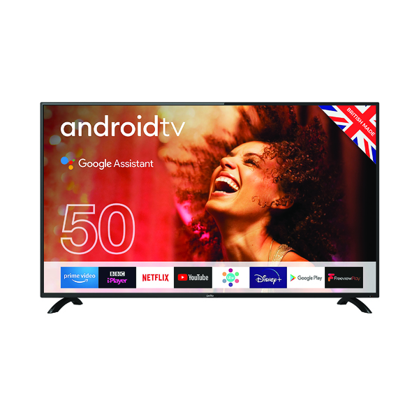 Cello 50 Inch Smart Android Freeview TV with Google Assistant 1080p C5020G