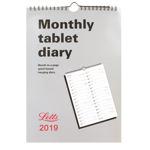 Letts Monthly Tablet Calendar 2019 6-TMT