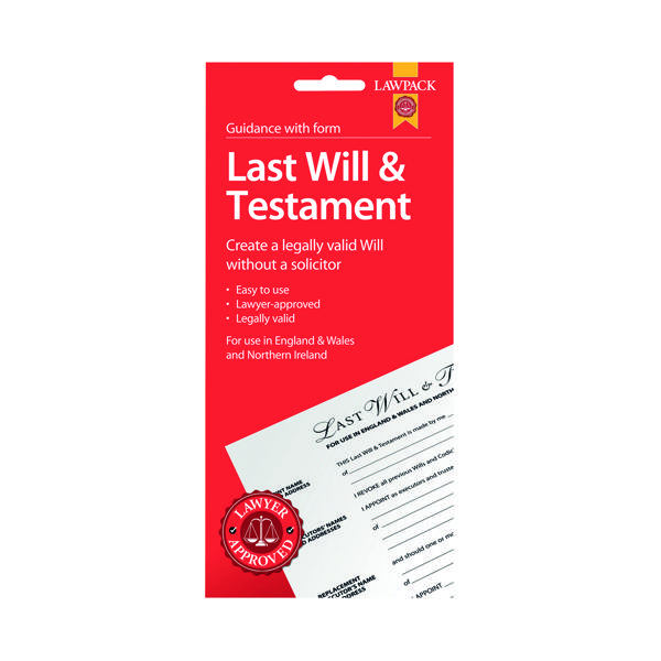 Law Pack Last Will and Testament Pack (5 Pack) F320