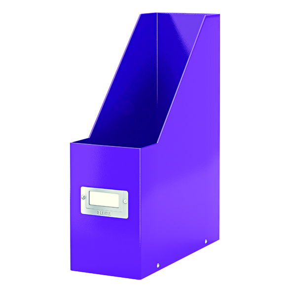 Leitz WOW Click and Store Magazine File Purple 60470062