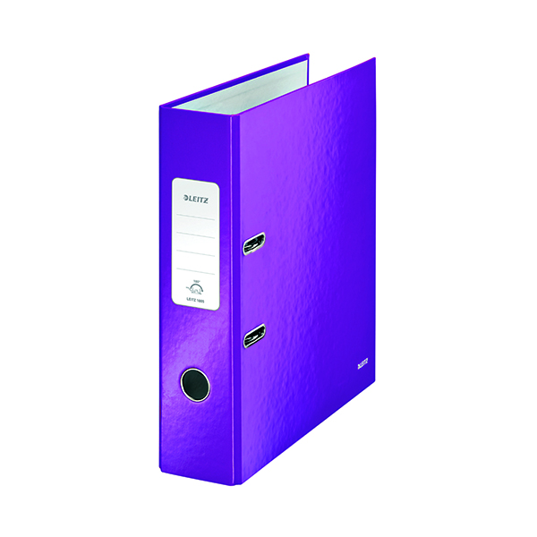 Leitz Wow 180 Lever Arch File 80mm A4 Purple (10 Pack) 10050062