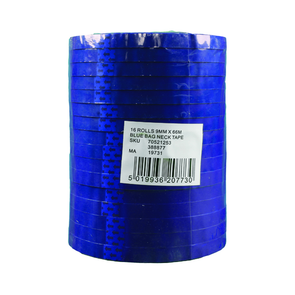 Blue Polypropylene Tape 9mm x 66m (16 Pack) 70521253