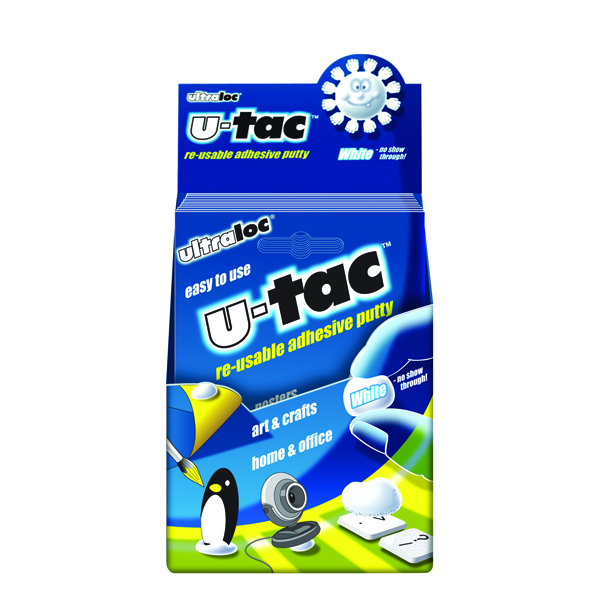 Ultraloc U-Tac Re-Usable Adhesive Putty White (12 Pack) SUUT12