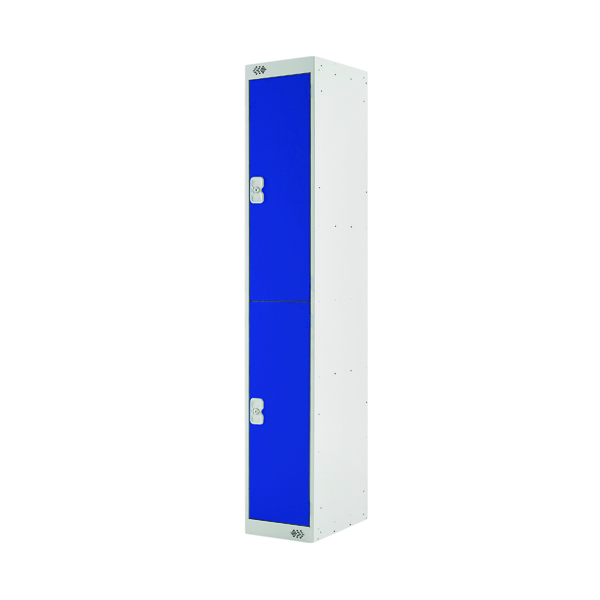 Two Compartment Locker D300mm Blue Door MC00007