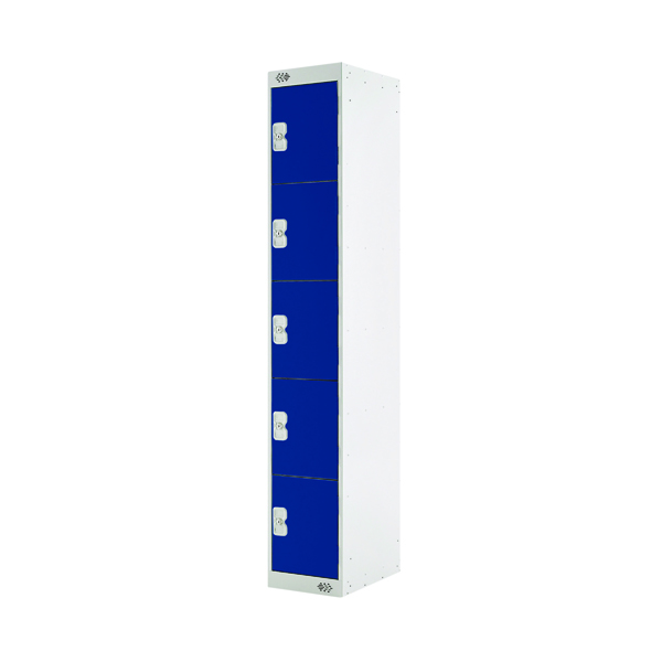 Blue Door 300mm Deep Five Compartment Locker MC00025