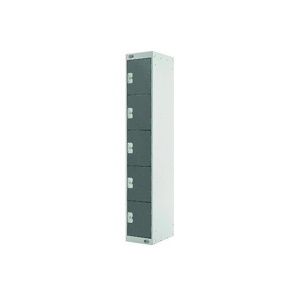 Five Compartment Locker D300mm Dark Grey Door MC00027