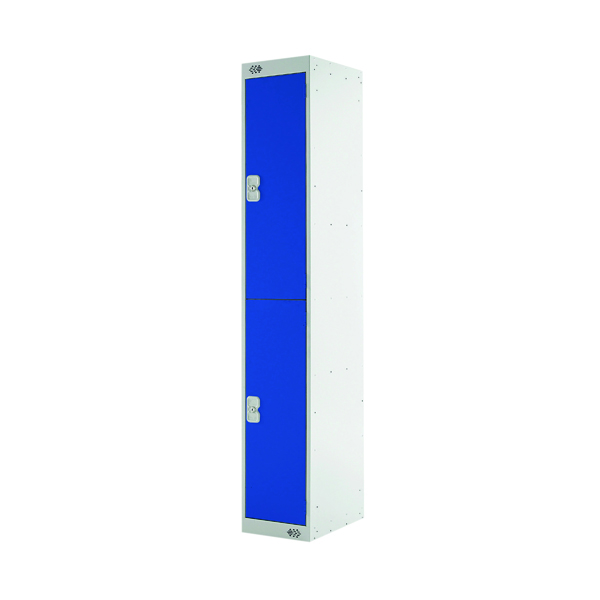 Express Standard Locker 2 Door W300xD300xH1800mm Light Grey/Blue MC00139