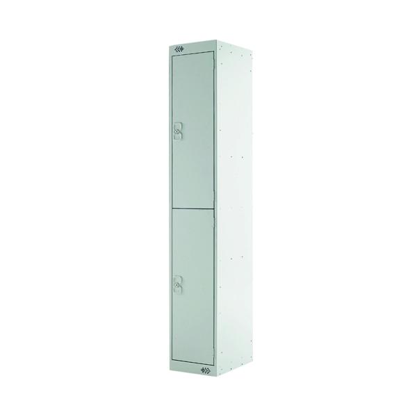 Express Standard Locker 2 Door W300xD300xH1800mm Light Grey MC00140