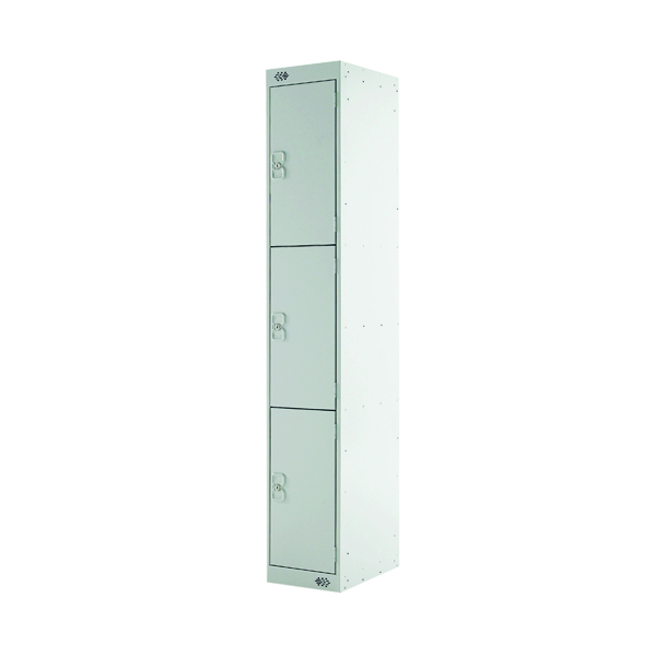 Express Standard Locker 3 Door W300xD300xH1800mm Light Grey MC00143