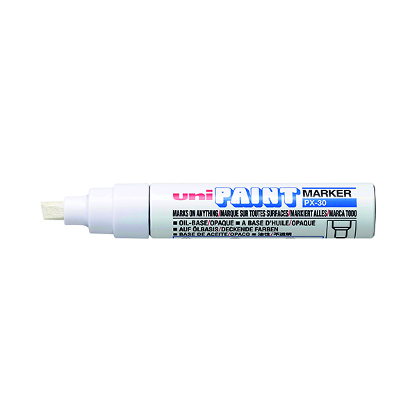 Unipaint PX-30 Paint Marker Broad Chisel White (6 Pack) 151183000