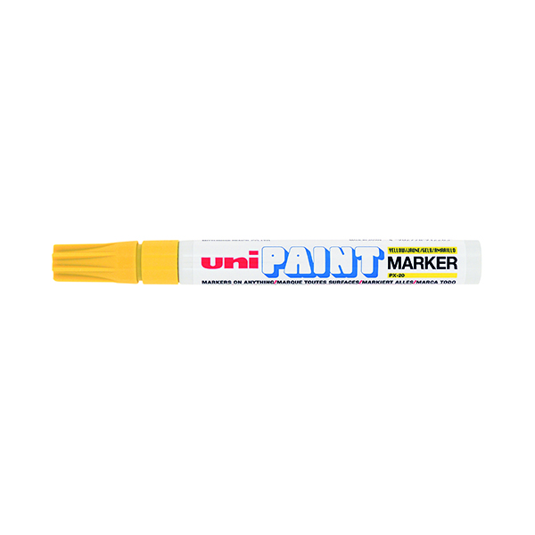 Unipaint PX-20 Paint Marker Medium Bullet Yellow (12 Pack) 545509000