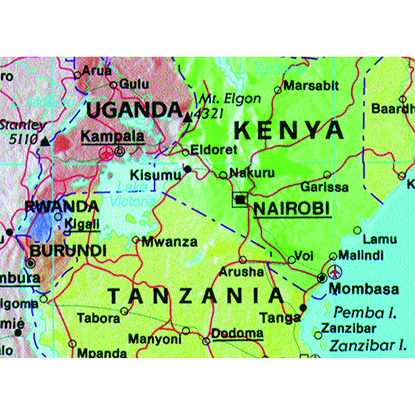 Map Marketing Giant World Political Laminated Map GWLD