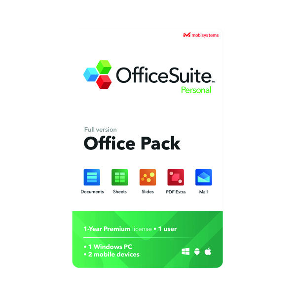 Mobisystems Officesuite Personal Software Licence Pack OSP