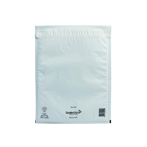 Mail Lite Tuff Bubble Lined Postal Bag Size H/5 270x360mm White (50 Pack) 103015255