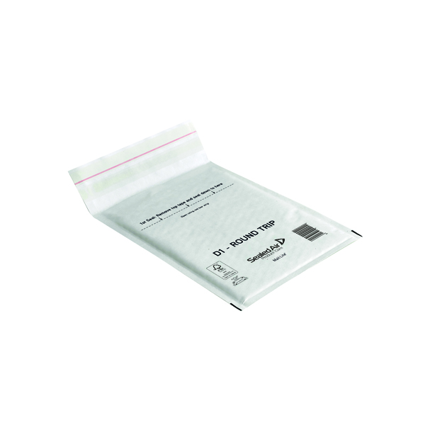 Mail Lite Round Trip Padded Mailer D1 180 x 260mm White (100 Pack) 100935833