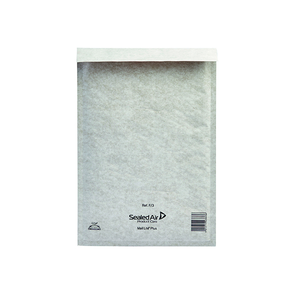 Mail Lite Plus Bubble Lined Postal Bag Size F/3 220x330mm Oyster White  (50 Pack) MLPF/3