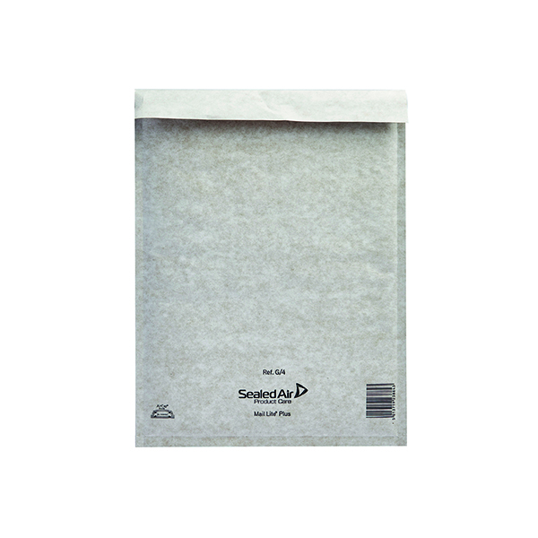 Mail Lite Plus Bubble Lined Postal Bag Size G/4 240x330mm Oyster White (50 Pack) 103025659