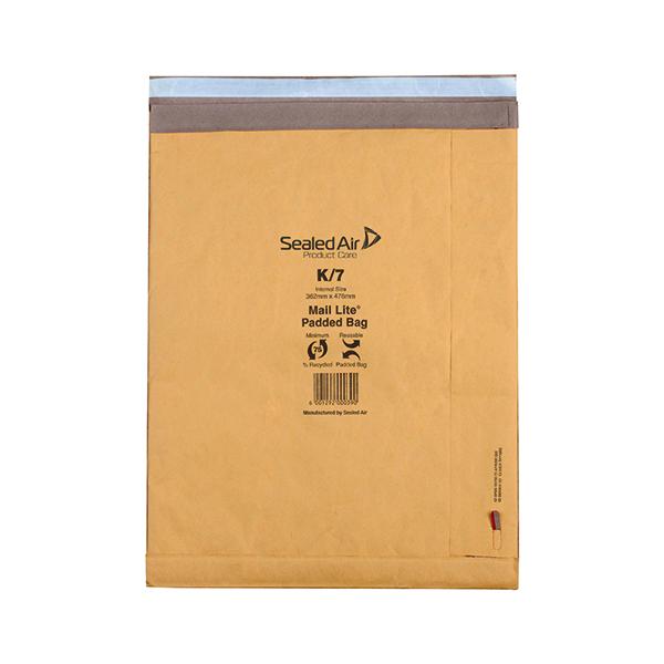 Mail Lite Padded Postal Bag Size K/7 365x476mm Gold (50 Pack) 100943514
