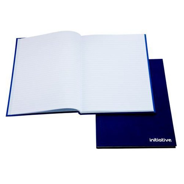Initiative Manuscript Book Feint Ruled 192 pages A5 70gsm Blue (5 Pack)