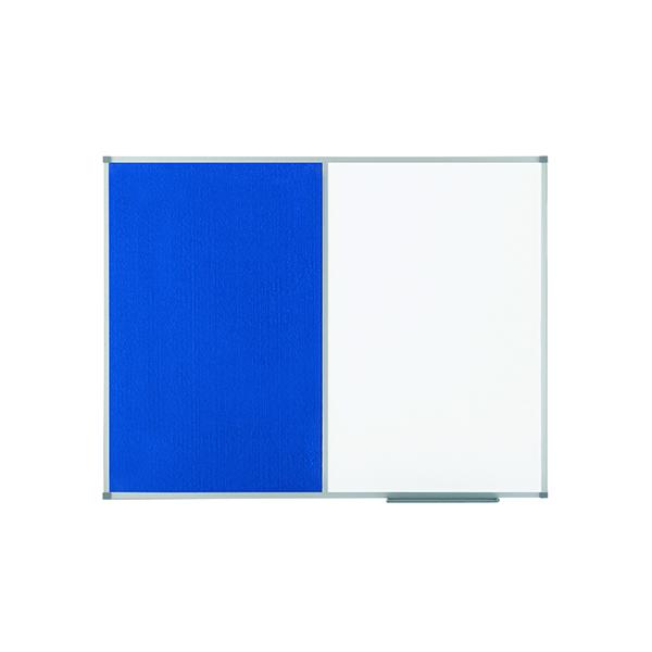 Nobo Classic Combi Blue Felt/Steel noticeboard, 900 x 600mm