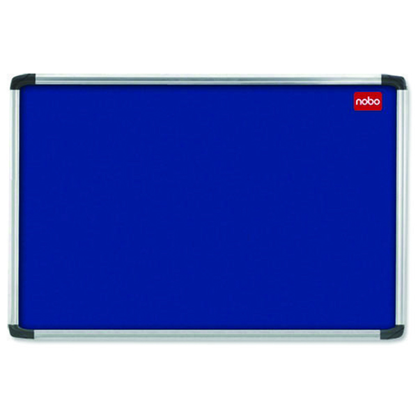 Nobo 1200 x 900mm Aluminium Frame Blue Notice Board 30230175