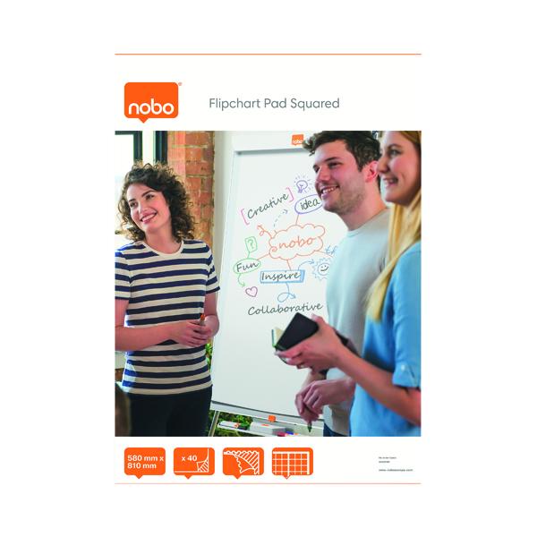 Nobo Squared Flipchart Pad A1 40 Sheet (5 Pack) 34631166