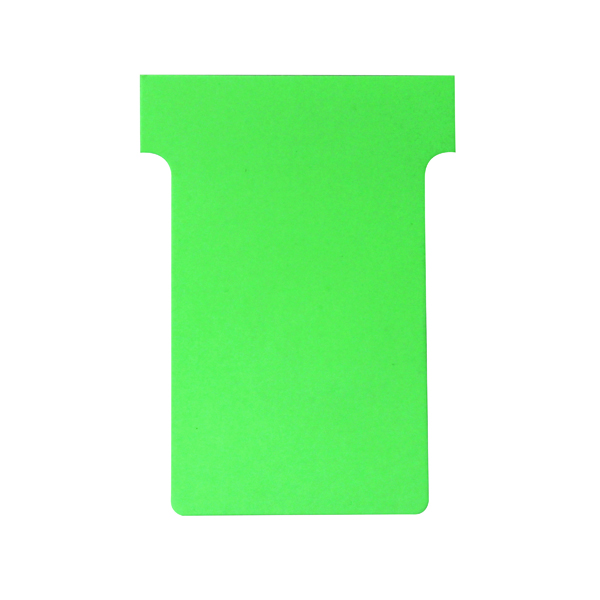 Nobo T-Card Size 2 48 x 85mm Light Green (100 Pack) 32938902