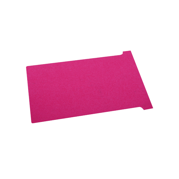 Nobo T-Card Size 2 48 x 85mm Red (100 Pack) 2002003
