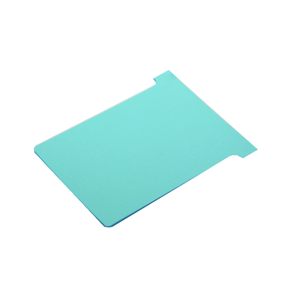 Nobo T-Card Size 2 48 x 85mm Light Blue (100 Pack) 2002006