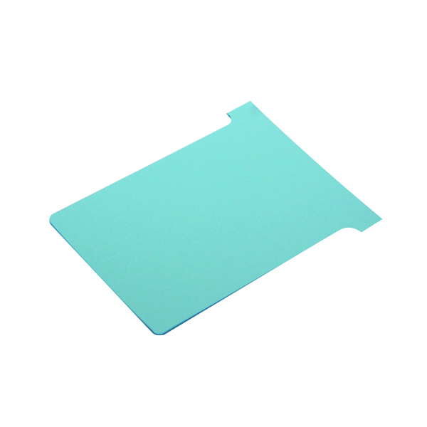 Nobo T-Card Size 3 80 x 120mm Light Blue (100 Pack) 2003006