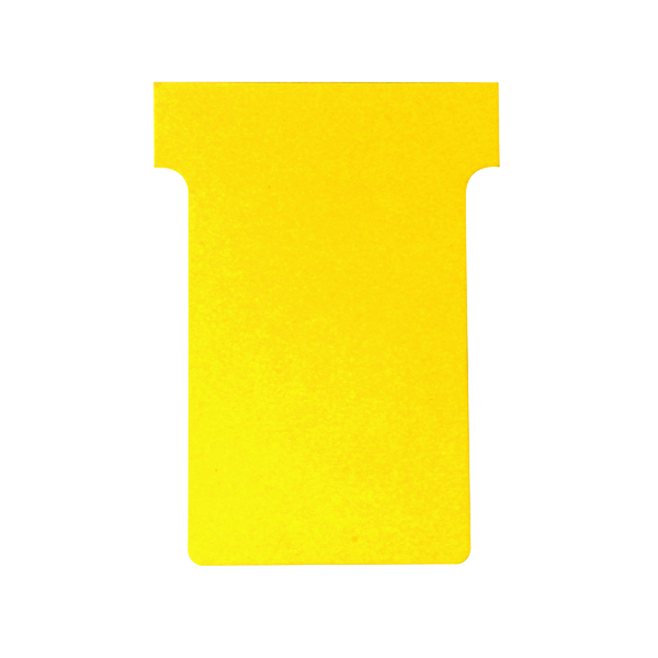 Nobo T-Card Size 4 112 x 180mm Yellow (100 Pack) 2004004