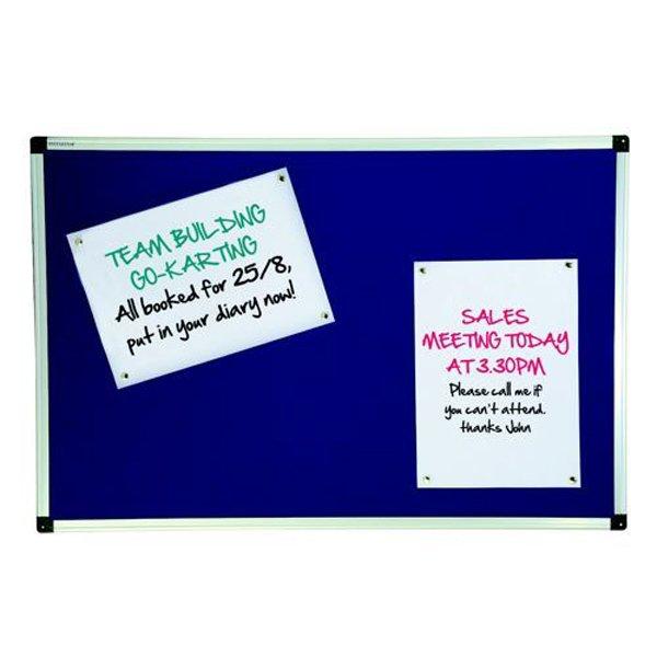 Initiative Noticeboard 900 x 600mm Aluminium Frame 3 x 2 Blue
