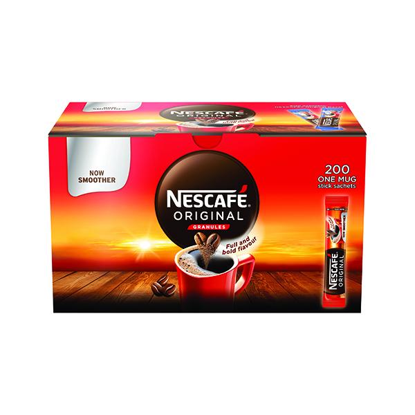 Nescafe Original One Cup Sticks Coffee Sachets (200 Pack) 12165415