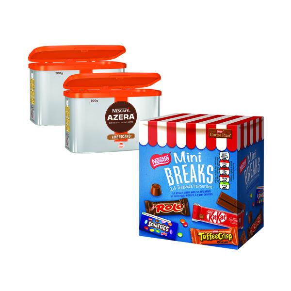 Nescafe Azera 2x500g FOC Mini Breaks Mixed Selection (24 Pack) NL819843