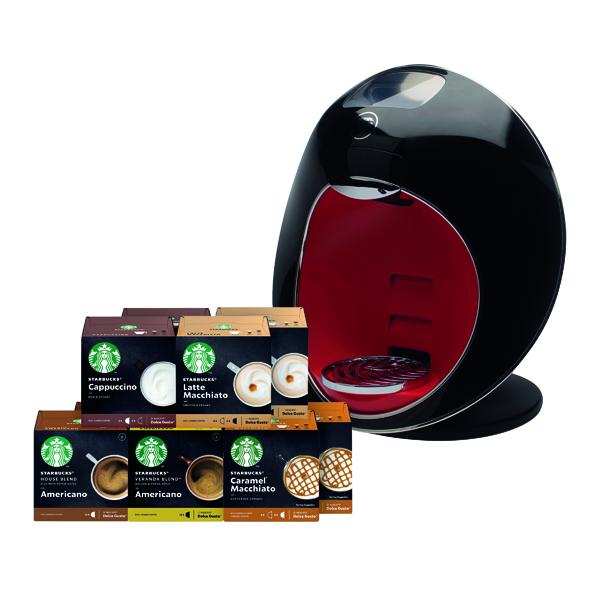 Nescafe Dolce Gusto Majesto Coffee Machine with FOC Starbucks Pods (360 Pack) NL819858