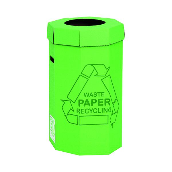 Acorn Cardboard Recycling Bin 60 Litre Green (5 Pack) 402565