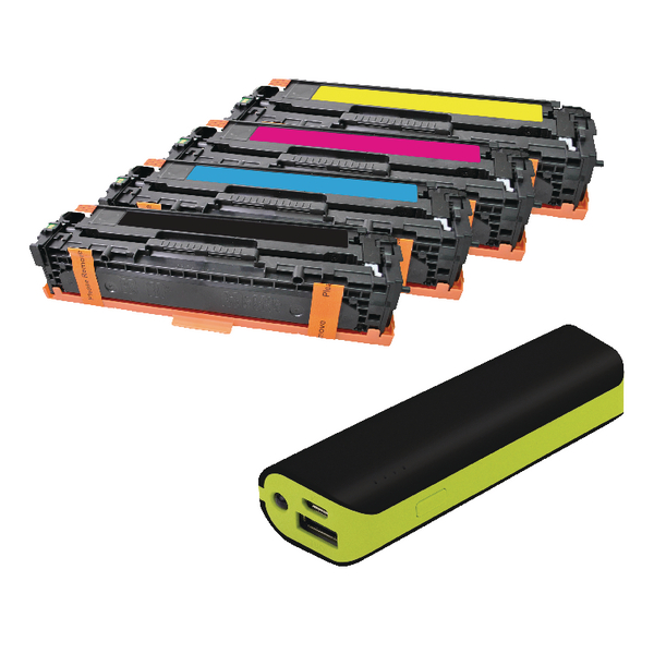 Q-Connect HP Color Laserjet CP1025/1515 toner + FREE Powerbank FOC Reviva 2000mAH Powerbank OB833012